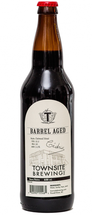 Barrel Aged Stout by Townsite Brewing in British Columbia, Canada