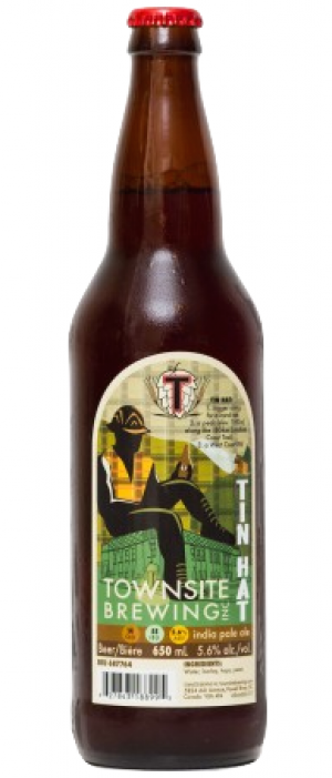 Tin Hat Pale Ale by Townsite Brewing in British Columbia, Canada