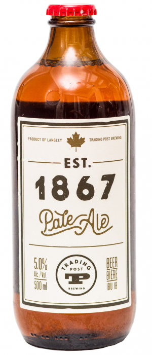 Est. 1867 Pale Ale by Trading Post Brewing in British Columbia, Canada