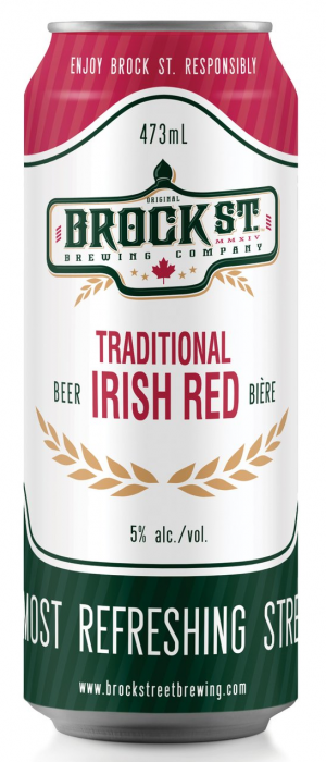 Traditional Irish Red by Brock St. Brewing Company in Ontario, Canada
