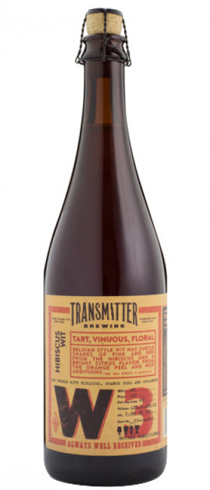 W3 Hibiscus Orange Wit by Transmitter Brewing in New York, United States