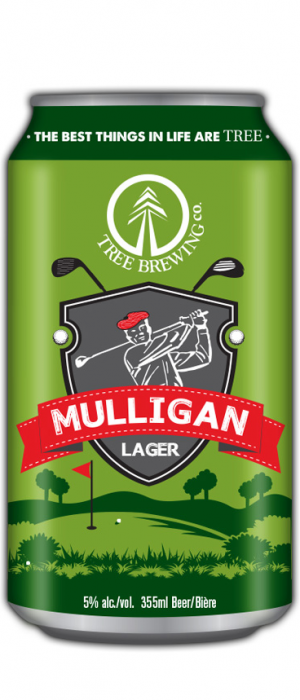 Mulligan Lager by Tree Brewing Company in British Columbia, Canada