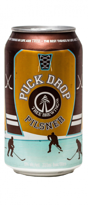 Puck Drop Pilsner by Tree Brewing Company in British Columbia, Canada