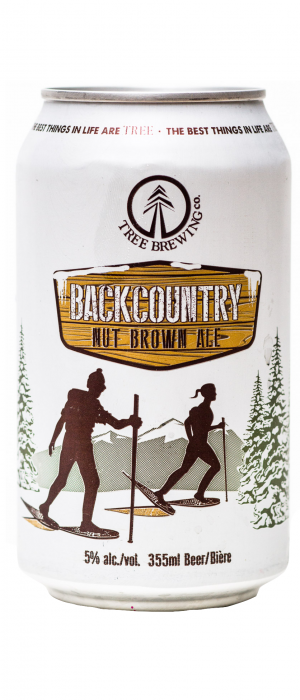 Backcountry Nut Brown Ale by Tree Brewing Company in British Columbia, Canada