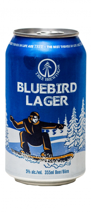 Bluebird Lager by Tree Brewing Company in British Columbia, Canada