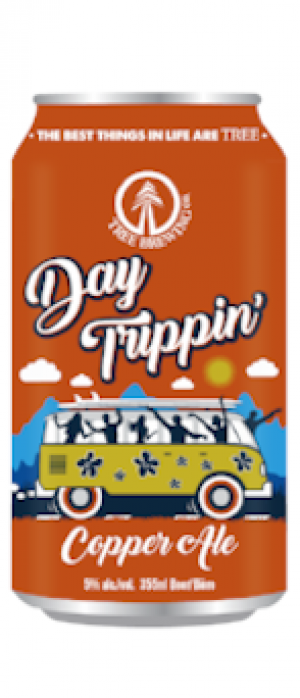 Day Trippin' Copper Ale by Tree Brewing Company in British Columbia, Canada