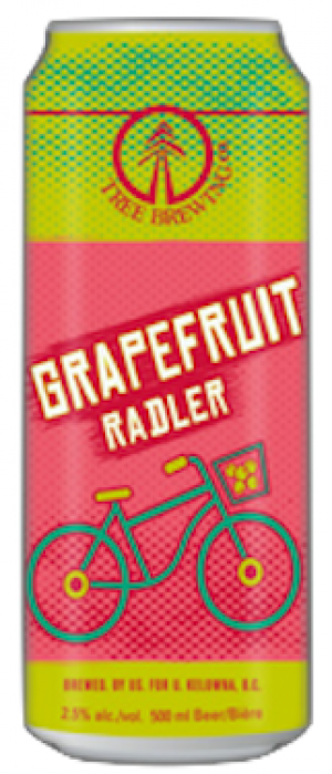 Grapefruit Radler by Tree Brewing Company in British Columbia, Canada