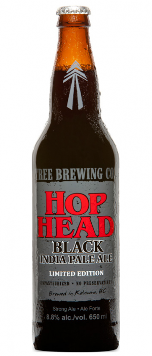 Hop Head Black IPA by Tree Brewing Company in British Columbia, Canada