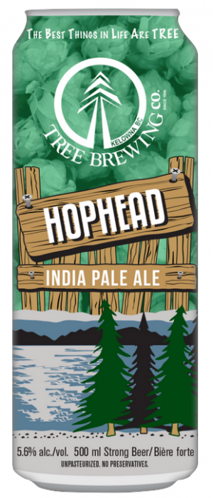 Hop Head IPA by Tree Brewing Company in British Columbia, Canada