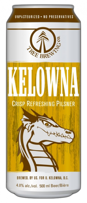 Kelowna Pilsner by Tree Brewing Company in British Columbia, Canada
