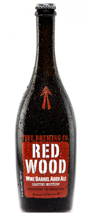 Red Wood Wine Barrel Aged Ale by Tree Brewing Company in British Columbia, Canada