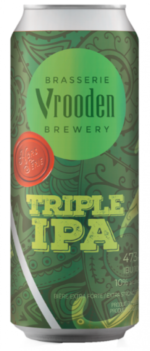 Triple IPA by Brasserie Vrooden in Québec, Canada