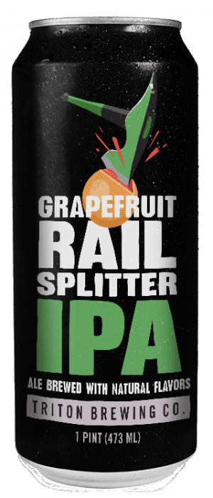 Grapefruit Rail Splitter IPA by Triton Brewing Company in Indiana, United States