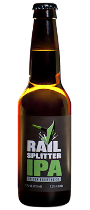 Railsplitter IPA by Triton Brewing Company in Indiana, United States