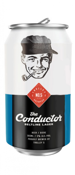 The Conductor Beltline Lager by Trolley 5 Restaurant & Brewery in Alberta, Canada