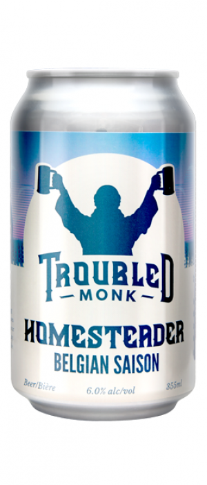 Homesteader Belgian Saison by Troubled Monk Brewery in Alberta, Canada