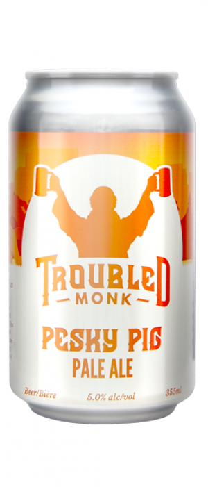 Pesky Pig Pale Ale by Troubled Monk Brewery in Alberta, Canada