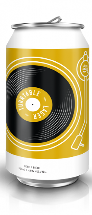 Turntable Lager by Trolley 5 Restaurant & Brewery in Alberta, Canada