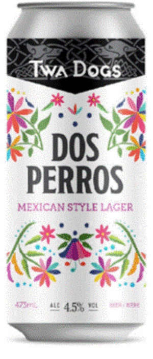 Twa Dogs Dos Perros Mexican Style Lager by Victoria Caledonian Brewery & Distillery in British Columbia, Canada