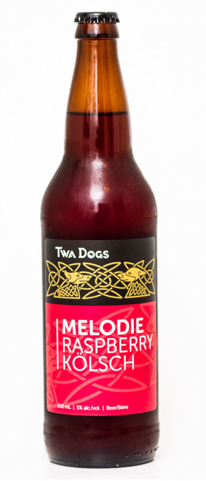 Twa Dogs Melodie Raspberry Kolsch by Victoria Caledonian Brewery & Distillery in British Columbia, Canada