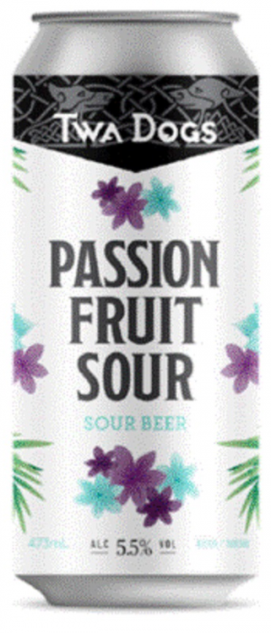 Twa Dogs Passion Fruit Sour Beer by Victoria Caledonian Brewery & Distillery in British Columbia, Canada