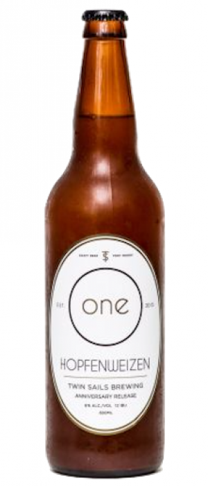 One Hopfenweizen by Twin Sails Brewing in British Columbia, Canada