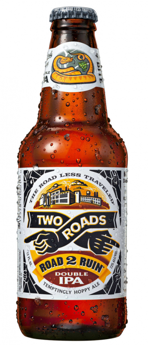 Road 2 Ruin Double IPA by Two Roads Brewing Company in Connecticut, United States