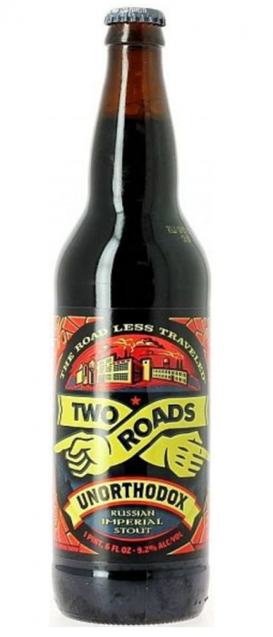 Unorthodox Russian Imperial Stout by Two Roads Brewing Company in Connecticut, United States