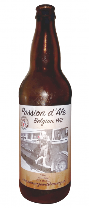 Passion'D Ale by Two Sergeants Brewing Co. in Alberta, Canada