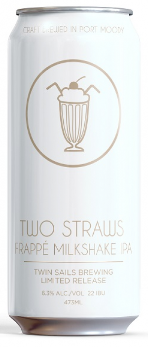 Two Straws Frappe Milkshake IPA by Twin Sails Brewing in British Columbia, Canada