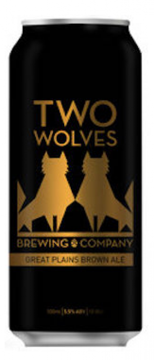 Great Plains Brown Ale by Two Wolves Brewing in British Columbia, Canada