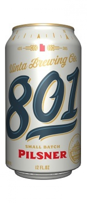 801 Pilsner by Uinta Brewing Company in Utah, United States