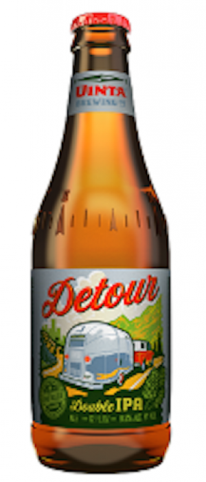 Detour Double IPA by Uinta Brewing Company in Utah, United States