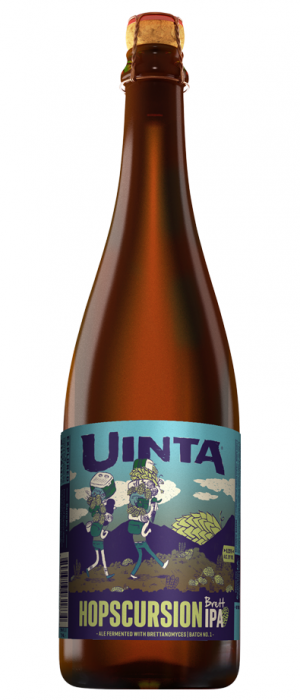 Hopscursion Brett IPA by Uinta Brewing Company in Utah, United States