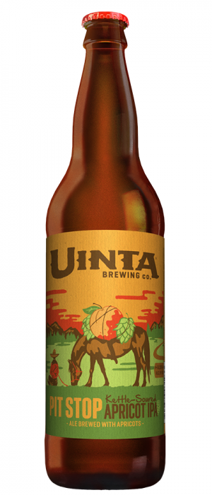 Pit Stop Kettle-Soured Apricot IPA by Uinta Brewing Company in Utah, United States