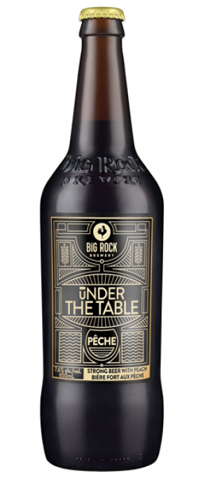 Under the Table Pêche by Big Rock Brewery in Alberta, Canada