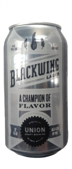 Blackwing Lager by Union Craft Brewing in Maryland, United States