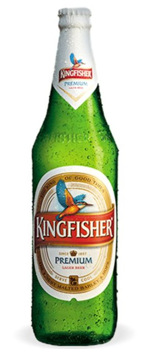 Kingfisher Premium Lager by United Breweries Group in Karnataka, India