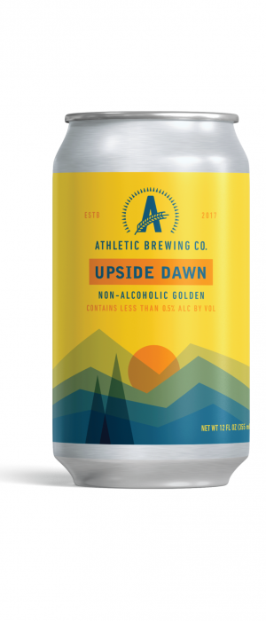 Upside Down Golden Ale by Athletic Brewing Company in Connecticut, United States