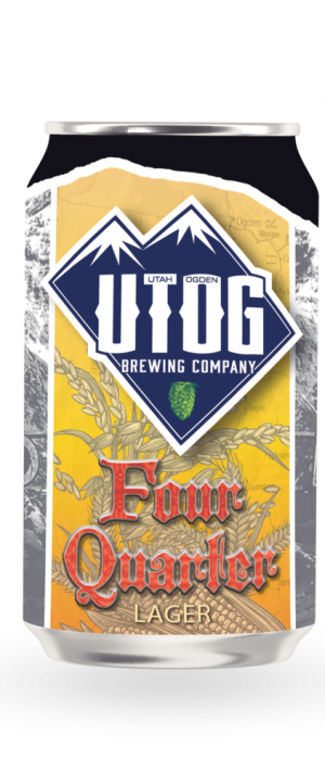 Four Quarter Lager by UTOG Brewing Company in Utah, United States