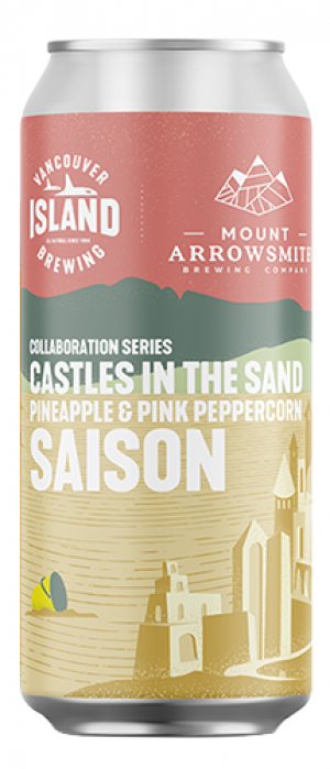 Castles in the Sand Pineapple & Pink Peppercorn Saison by Vancouver Island Brewing in British Columbia, Canada