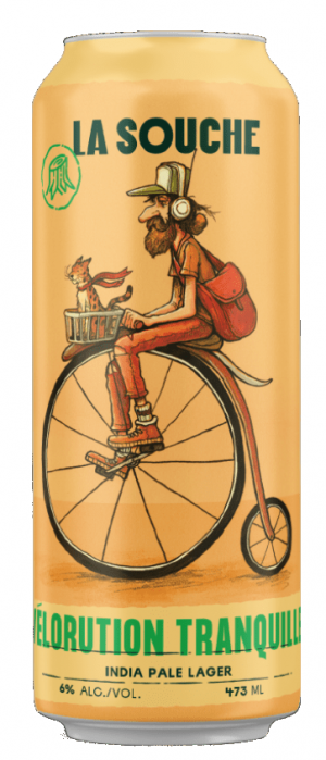 Velorution Tranquille by La Souche Microbrasserie in Québec, Canada