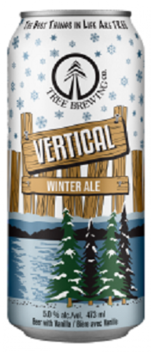 Vertical Winter Ale by Tree Brewing Company in British Columbia, Canada