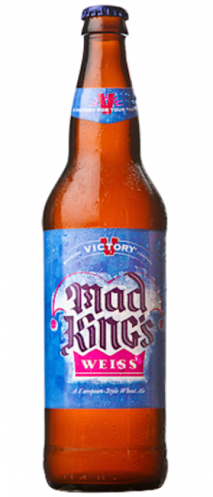 Mad King's Weiss by Victory Brewing Company in Pennsylvania, United States