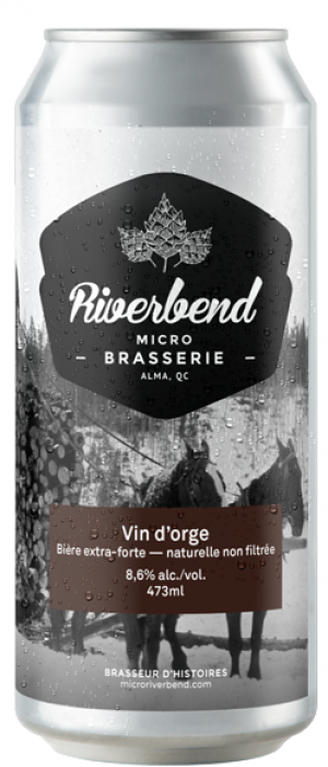 Vin d'orge by Microbrasserie Riverbend in Québec, Canada