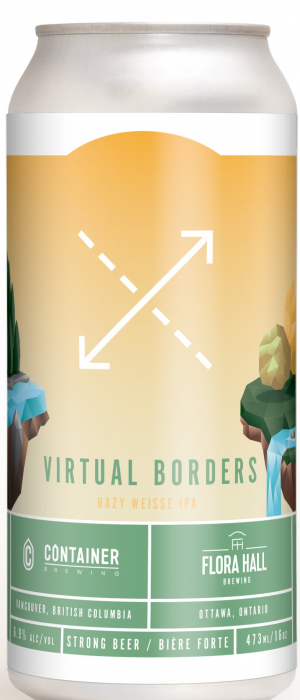 Virtual Borders Hazy Weisse IPA by Container Brewing Co. in British Columbia, Canada