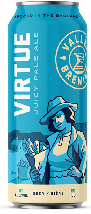 Virtue Juicy Pale Ale by Valley Brewing in Alberta, Canada