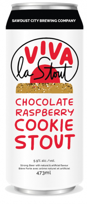 Viva la Stout - Chocolate Raspberry Cookie Stout by Sawdust City Brewing Company in Ontario, Canada