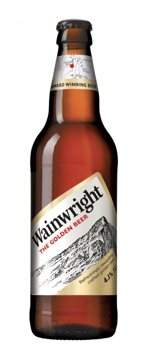 Wainwright: The Golden Beer by Marston's Brewery in Staffordshire - England, United Kingdom