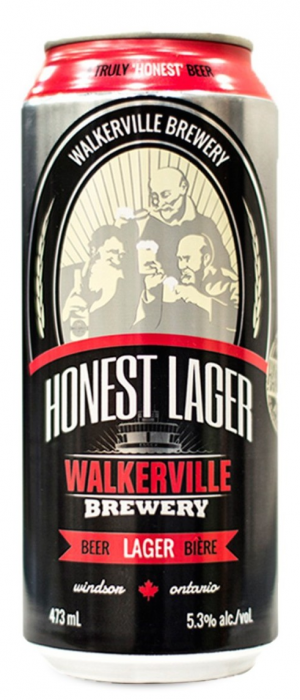 Honest Lager by Walkerville Brewery in Ontario, Canada